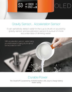Smart Water Mug with Drinking Reminer pictures & photos