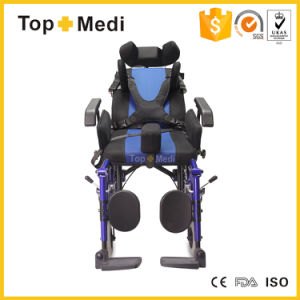 Aluminum Handicapped Disabled Reclining Cerebral Palsy Wheelchair Manual pictures & photos