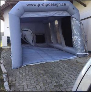 Cheap Outdoor Inflatable Big Spray Painting Tent for Sale pictures & photos