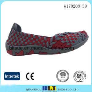 Hot Sale Low Cut Woven Women Comfort Shoes pictures & photos