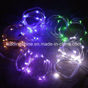 Wedding Cr2032 Small Battery Operated Copper Fairy Light String pictures & photos