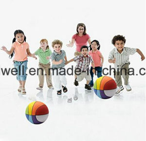Rubber Rainbow Basketball Good Gift for Kids pictures & photos