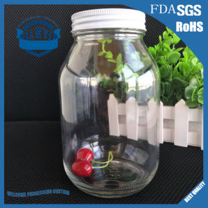 Canned 32 Oz Lead-Free Transparent Glass Jar pictures & photos