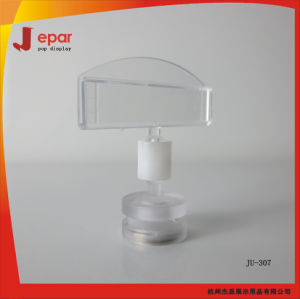 Supermarket Clear Pop Promotional Plastic Menu Clip Holder pictures & photos