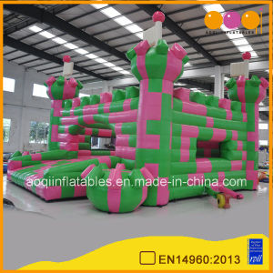 Cheap Beautiful Color Block Inflatable Castle Bouncer for Customized (AQ592) pictures & photos
