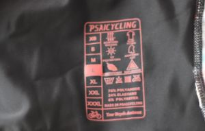 Screen Printing for Cycling Shorts Heat Transfer Label Printed pictures & photos