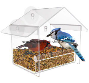 Factory Made Acrylic Window Bird Feeder pictures & photos