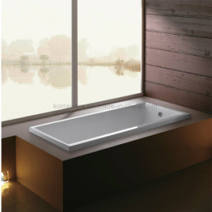 Rectangle Built-in Simple Acrylic Bathtub with Stainless Steel Stand (K-1079/K-1063) pictures & photos