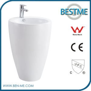 Hot Selling Ceramic Pedestal Basin pictures & photos