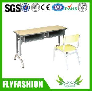 Shcool Furniture for Student Double Adjustable Desk and Chair pictures & photos