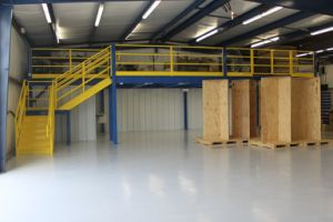 Steel Structural Plarform and Mezzanine Floor with Plywood Decking pictures & photos