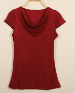 Bamboo Women′s Drop Neck Fashion Shirt pictures & photos