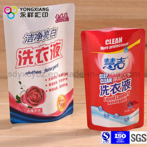 Size Customized Laundry Detergent Bag with Spout and Handle Hole pictures & photos