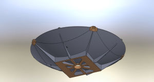 Foldable 2.4m Carbon Fiber Vehicle-Mounted Satellite Antenna pictures & photos