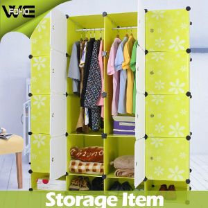 Free Standing Discount Bedroom Furniture Plastic Quality Wardrobes pictures & photos