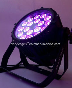 Outdoor 18PC 18W RGBWA UV 6in1 LED PAR Light pictures & photos