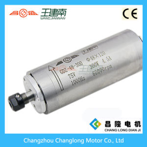 Manufacture 300W Water Cooled High Speed Three Phase Asynchronous Spindle Motor for Wood Carving CNC Router pictures & photos