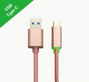 Type-C to USB 3.0A Male with LED Light Cable pictures & photos