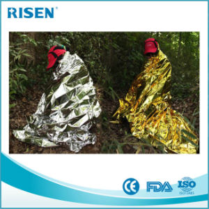 Reflective Emergency Mylar Space Blanket Rescue Blanket pictures & photos