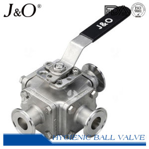 Three-Way Sanitary Stainless Steel T-Clamp Direct Mount Ball Valve pictures & photos