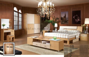 Cheaper Comfortable Bedroom Furniture Wooden Bed (UL-LF016) pictures & photos