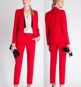 High Quality Classic Business Women Red Office Ladies Suits