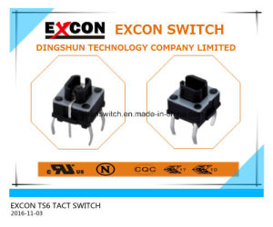 Safe Durable Ts6 Tact Switch Excon Manufacture Switch pictures & photos