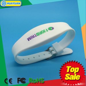 WS-02 Dual Frequency LF TK4100 and FM08 Waterproof RFID silicone bracelet pictures & photos