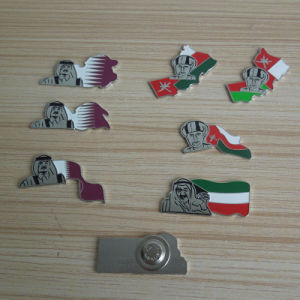 Stamped National Flag Logo Metal Badge Lapel Pin pictures & photos