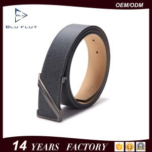 Custom Z Logo Buckle Waist Belt Genuine Cowhide Leather Men Belt pictures & photos