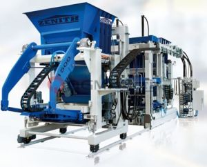 Zenith 1500 Fully Automatic Stationary Single Pallet Concrete Block Making Machine pictures & photos