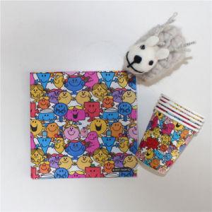 New Design Colorful Smile Face Paper Lunch Serviette 33*33cm/2ply & 33*33cm/3ply pictures & photos
