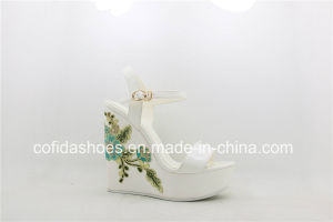 European High Heels Lady Wedge Sandals for Fashion Ladies pictures & photos