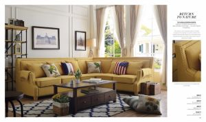 American Style Corner Sofa for Living Room Furniture pictures & photos