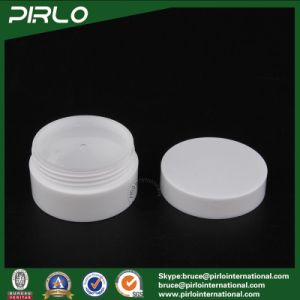 10g PP Plastic White Color Cosmetic Jar Double Wall Luxury Skin Care Cream Jar with Lid and Inner Cover Empty 10g Plastic Jar pictures & photos