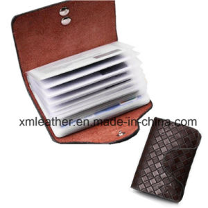 Fashion Minimalist PU Leather Slim Business Plastic Card Holder Wallet pictures & photos