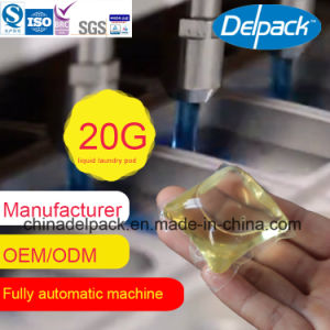 Water Souble Film with Concerntrate Liquid Laundry Pods, OEM&ODM 20g No Dyes Laundry Liquid Detergent Capsule pictures & photos