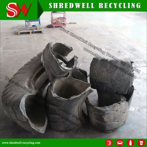 Powerful Hydraulic Waste Tire Cutter Machine Recycling The Oversize Scrap Mine/OTR Tyres pictures & photos