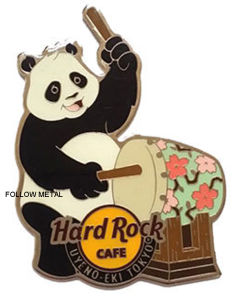 Hard Rock Badge with Bear Logo