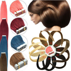 Ombre Color Invisible PU Skin Tape Human Remy Hair Extension pictures & photos