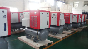 Ce Approved 55kw 75HP Belt Driven Screw Air Compressor pictures & photos