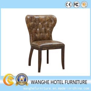 Artificial Leather Dining Chair with High Density Upholstery pictures & photos