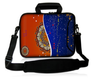 "Black 15"" 15.6"" Neoprene Laptop Carrying Bag Sleeve Case + Shoulder Strap pictures & photos"