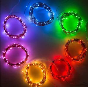 LED Lights 33FT Long Ultra Thin String Copper Wire Decor Rope Flexible Light Battery Box Perfect for Weddings pictures & photos