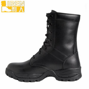 Black Genuine Leather Military Combat Boots pictures & photos