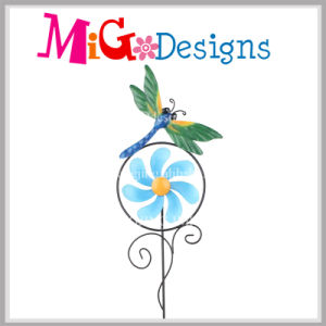 Popular for Market Metal Flower Garden Stake Wind Spinner pictures & photos