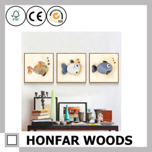 Square Natural Wood Painting Poster Frame for Home Decoration pictures & photos
