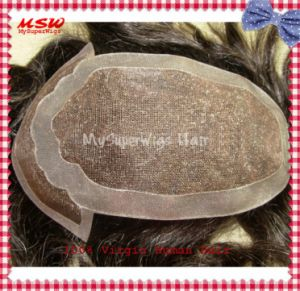 The All Reinforced New York Lace (welded mono) Hair Replacement pictures & photos