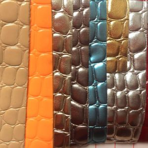 Stone Grain PVC Leather for Making Handbags pictures & photos
