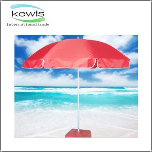 Best Selling Red Color Advertising Beach Umbrella pictures & photos